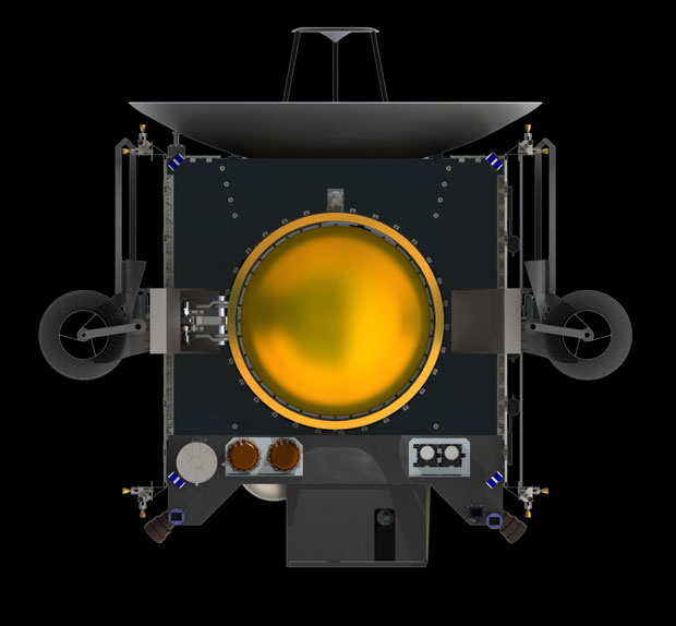 Spacecraft frontal view
